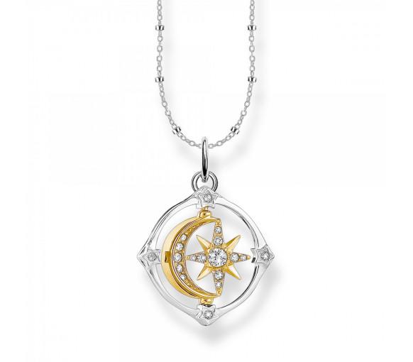 Thomas Sabo Halskette Star & Moon Compass - SCKE150285