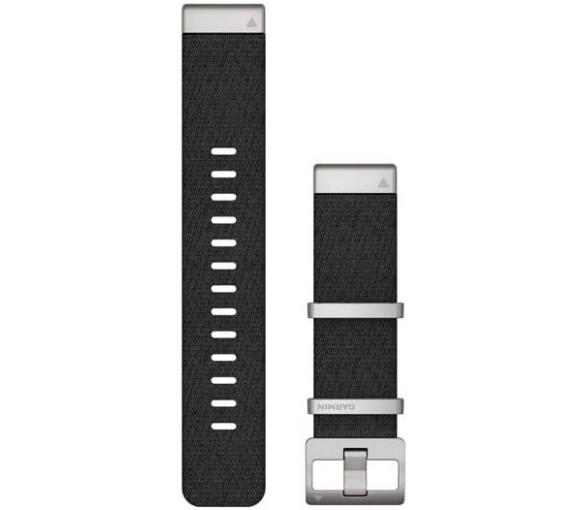 Garmin MARQ® QuickFit® 22 Jacquard-weave Nylon Black Band - 010-12738-21