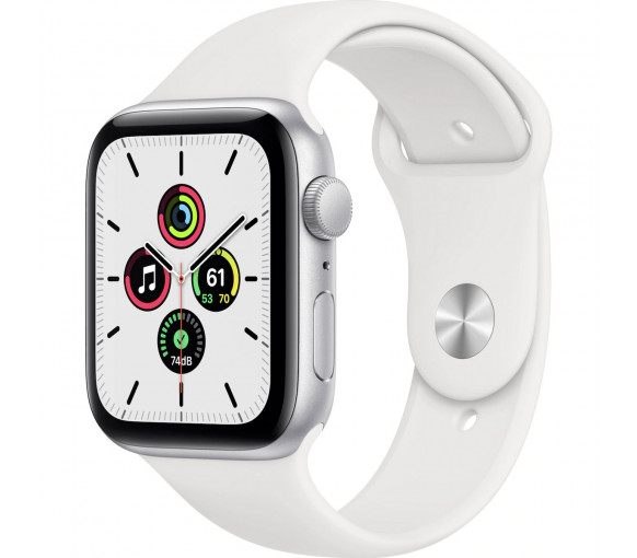 Apple Watch Series SE Silver White Sport Band