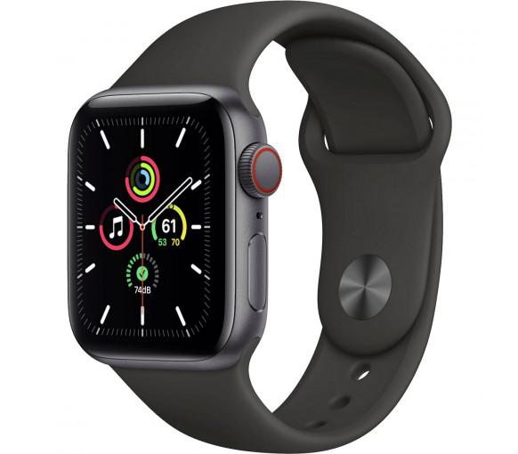 Apple Watch Series SE Cellular Space Grey Black Sport Band