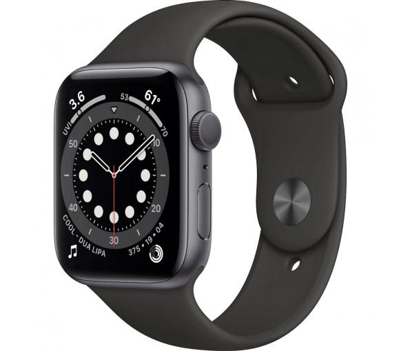 Apple Watch Series 6 Space Grey Black Sport Band