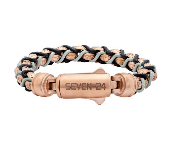 Seven-24 Modern Soul Rosé Schwarz Grau Armband - SVMS009