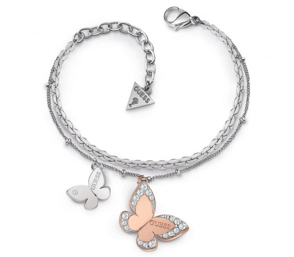 Guess Love Butterfly Armband - UBB78057-S
