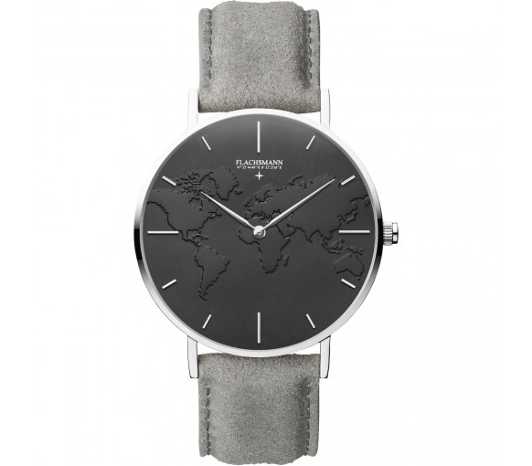 Flachsmann World Traveler 2 Grey Suede Black Silver