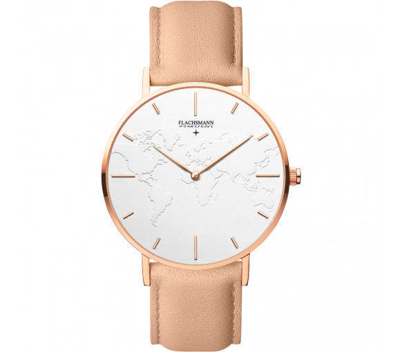 Flachsmann World Traveler 3 Nude White Rose Gold