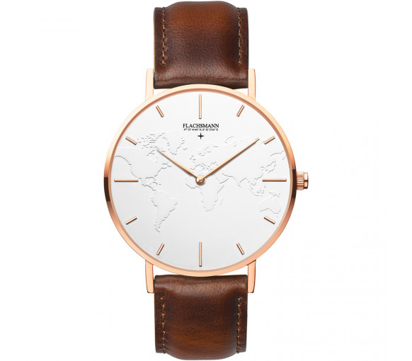 Flachsmann World Traveler 3 Vintage White Rose Gold