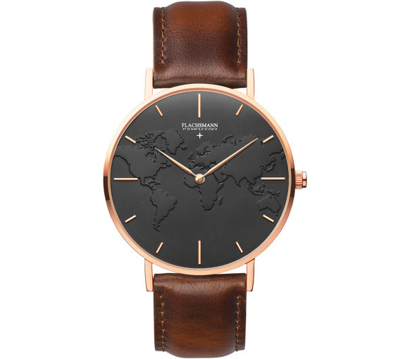 Flachsmann World Traveler 4 Vintage Black Rose Gold