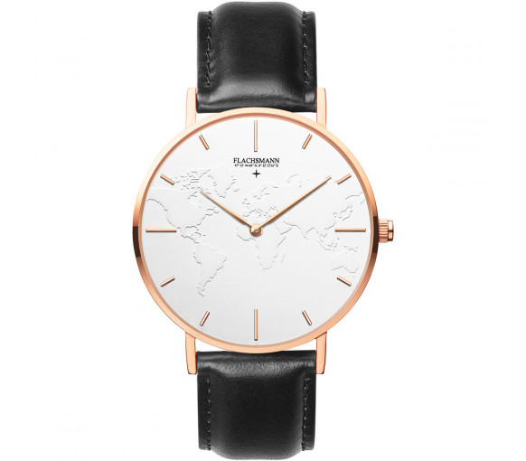 Flachsmann World Traveler 3 Black White Rose Gold