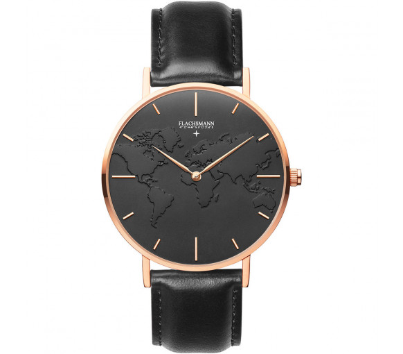 Flachsmann World Traveler 4 Black Black Rose Gold