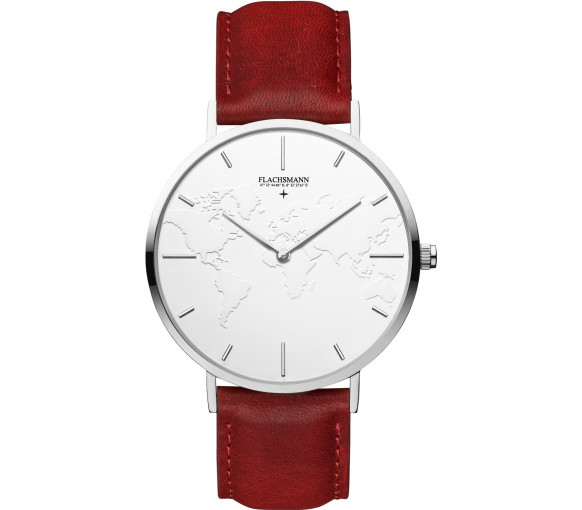 Flachsmann World Traveler 1 Bordeaux Red White Silver