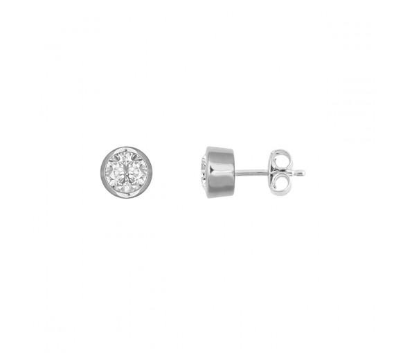 Xenox Silver Circle Ohrstecker - XS7156