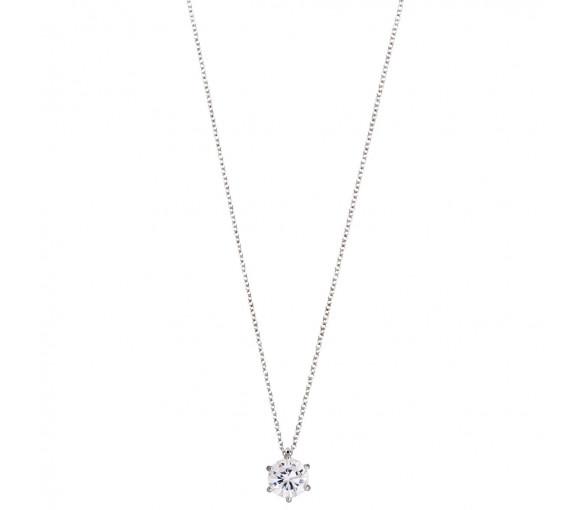 Xenox Silver Circle Halskette - XS7175