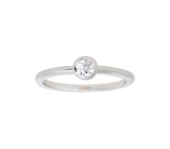 Xenox Silver Circle Ring - XS7279/54