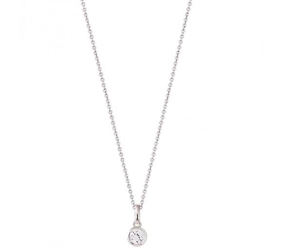 Xenox Silver Circle Halskette - XS7285