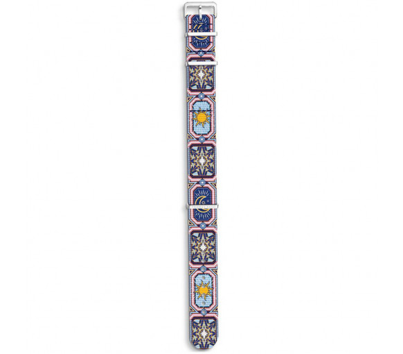 Thomas Sabo Watch Strap Code TS Nato Colourful Night Sky - ZWA0323-276-7
