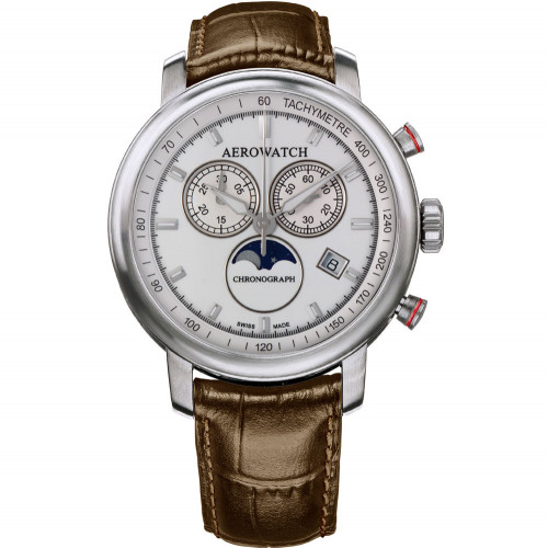 Aerowatch Renaissance Chronograph Moon-Phases - A 84936 AA04 SAT