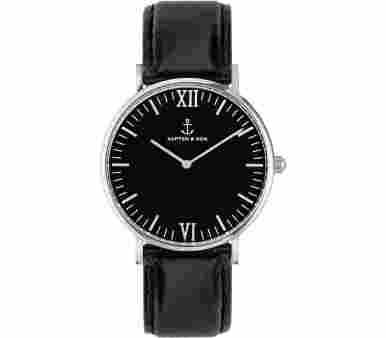 Kapten & Son Silver All Black Leather