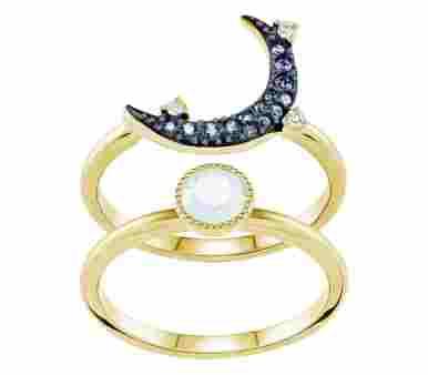 Swarovski Duo Ring Moon