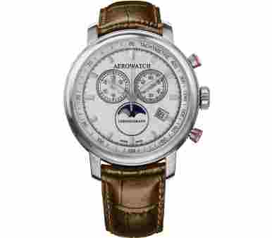 Aerowatch Renaissance Chronograph Moon-Phases - A 84936 AA04 SAT