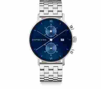Kapten & Son Chrono Silver Blue Steel - CD03C0826F01A