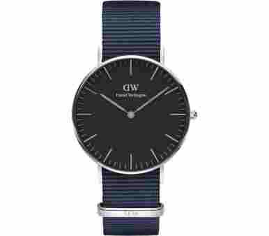 Daniel Wellington Classic Black Bayswater Silver