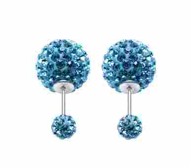 Double Dots by Karma Light Blue Crystal - 11013
