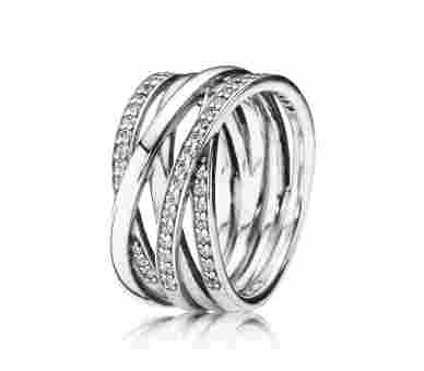 Pandora Ring Funkelnde Bänder - 190919CZ