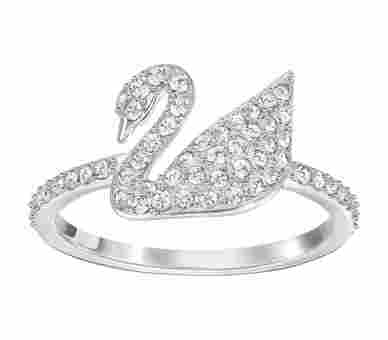 Swarovski Iconic Swan Ring Silber