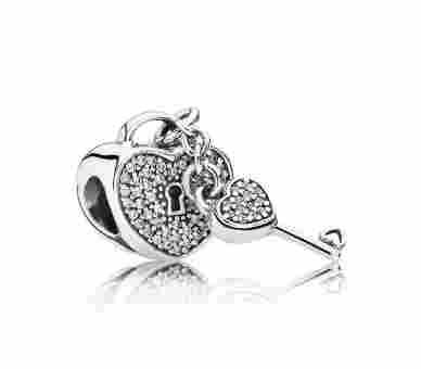 Pandora Charms/Beads Pavé-Schlüssel zu meinem Herzen - 791429CZ
