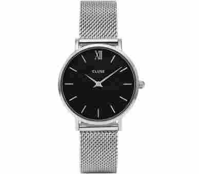 Cluse Minuit Mesh Silver - CL30015