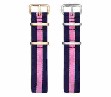 Paul Hewitt Watchstrap Nato Navy Blue-Light Pink