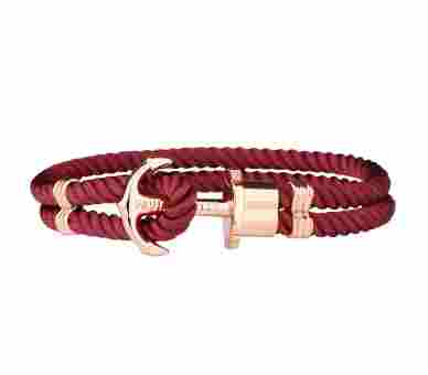 Paul Hewitt Anchor Bracelet Phrep Rose Gold Nylon Dark Berry - PH-PH-N-R-Db