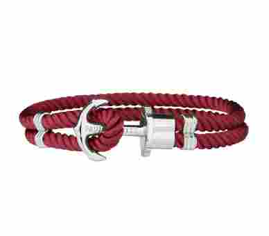 Paul Hewitt Anchor Bracelet Phrep Silver Nylon Dark Berry - PH-PH-N-S-Db