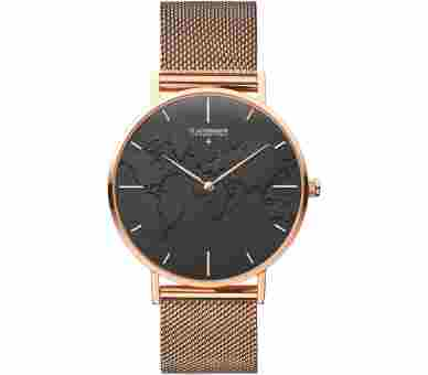 Flachsmann World Traveler 4 Mesh Rose Gold Black