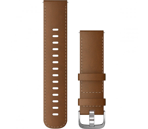 Garmin Quick Release (22 mm) Brown Italian Leather Band - 010-12932-24