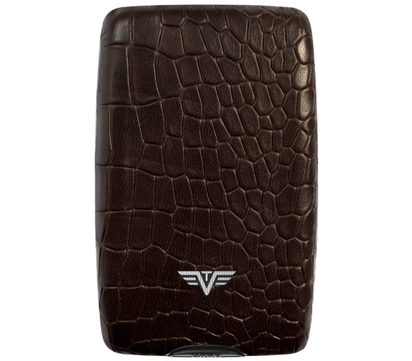 Tru Virtu Wallet Cash & Cards Croco Brown - 14.10.4.0002.04