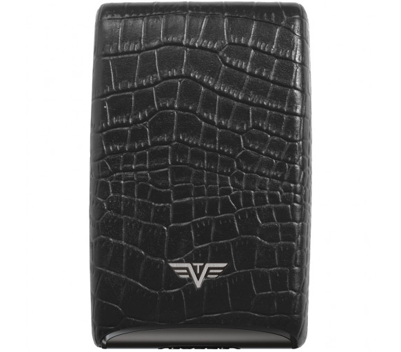 Tru Virtu Credit Card Case Fan Croco Black - 16.10.4.0032.08