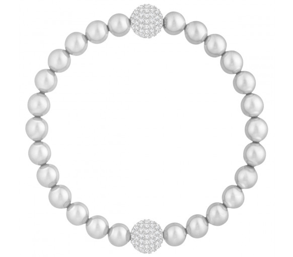 Swarovski Remix Collection Light Gray Crystal Pearl - 5364103