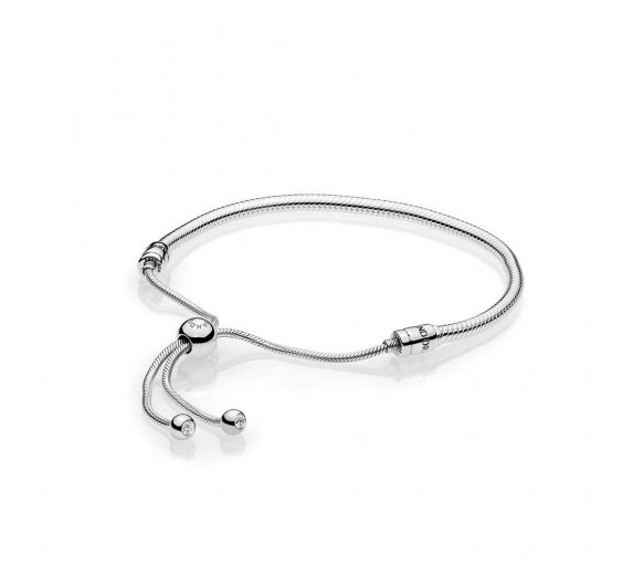 Pandora Moments Silver Sliding Armband - 597125CZ-2