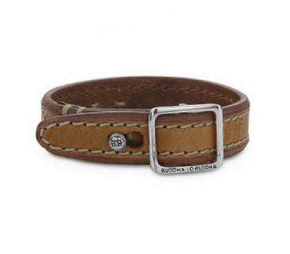 Buddha to Buddha Allard Stitched Leather Cognac Armband - 772CO-BTB