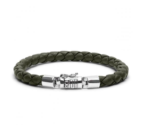 e15e932303f3ca Buddha to Buddha Armband Ben Round Leather Olive XS - J545OL-BTB