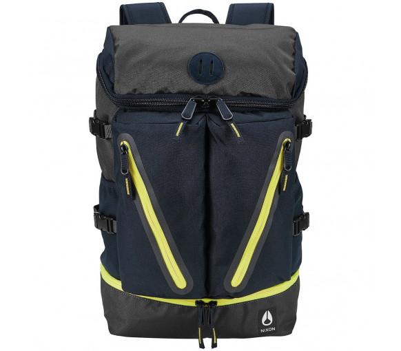 Nixon Scripps Backpack II Black Dark Olive Volt - C2821-3059-00