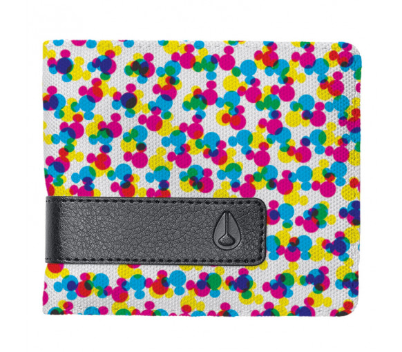 Nixon Showdown Print Bi-Fold Zip Wallet - C2940-3099-00