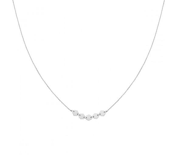 Cluse Essentielle Silver Hexagons Necklace - CLJ22001