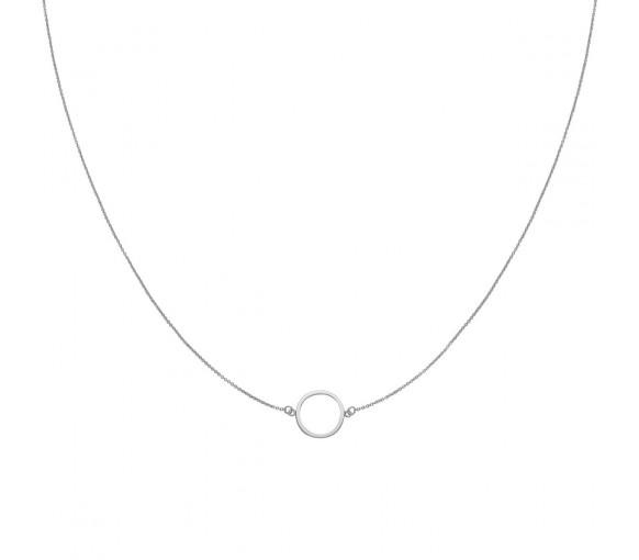 Cluse Essentielle Silver Open Circle Choker Necklace - CLJ22002
