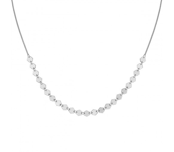Cluse Essentielle Silver All Hexagons Choker Necklace - CLJ22003