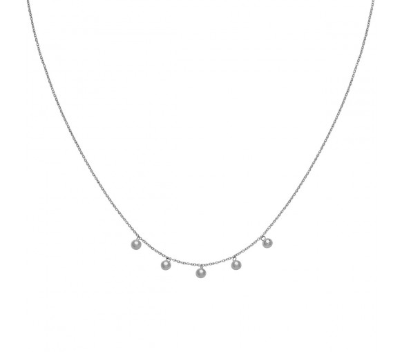 Cluse Essentielle Silver Orbs Necklace - CLJ22006