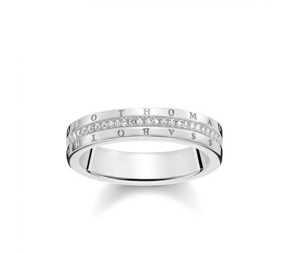 Thomas Sabo Ring Classic Weiß - D_TR0026-725-14