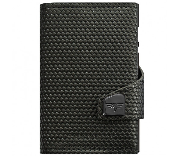 Tru Virtu Click & Slide Wallet Diagonal Carbon Black Black - 24.10.4.0004.18