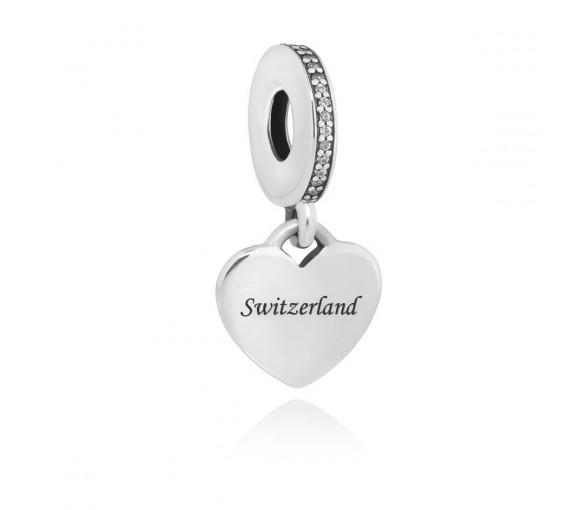 Pandora Heart Switzerland Charm - ENG792017CZ-CH